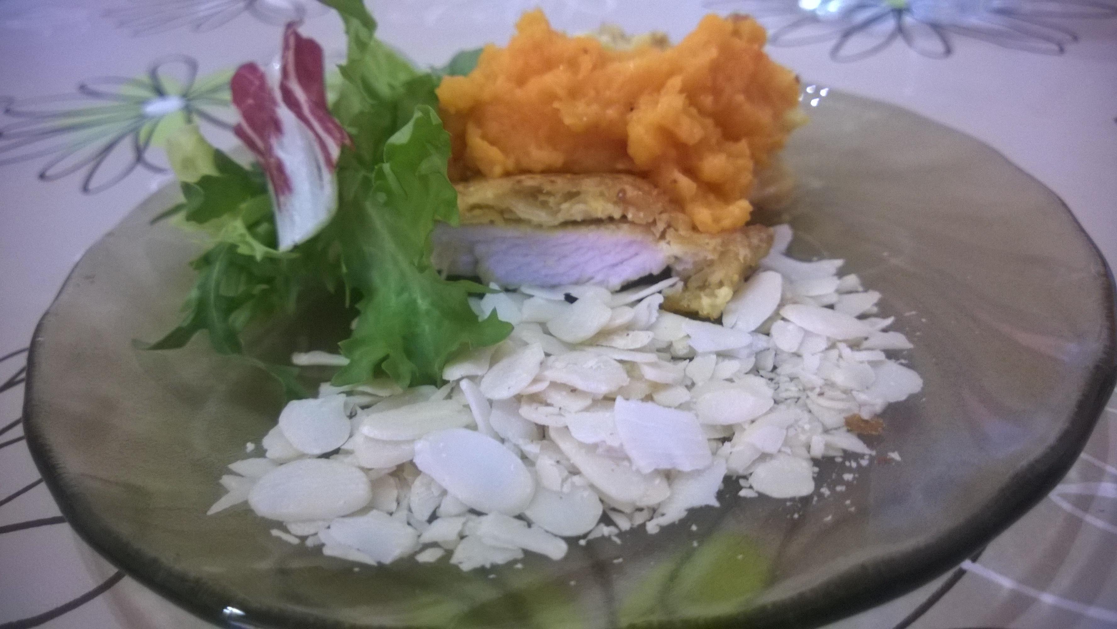 Karácsonyi menühöz, mandulás csirke