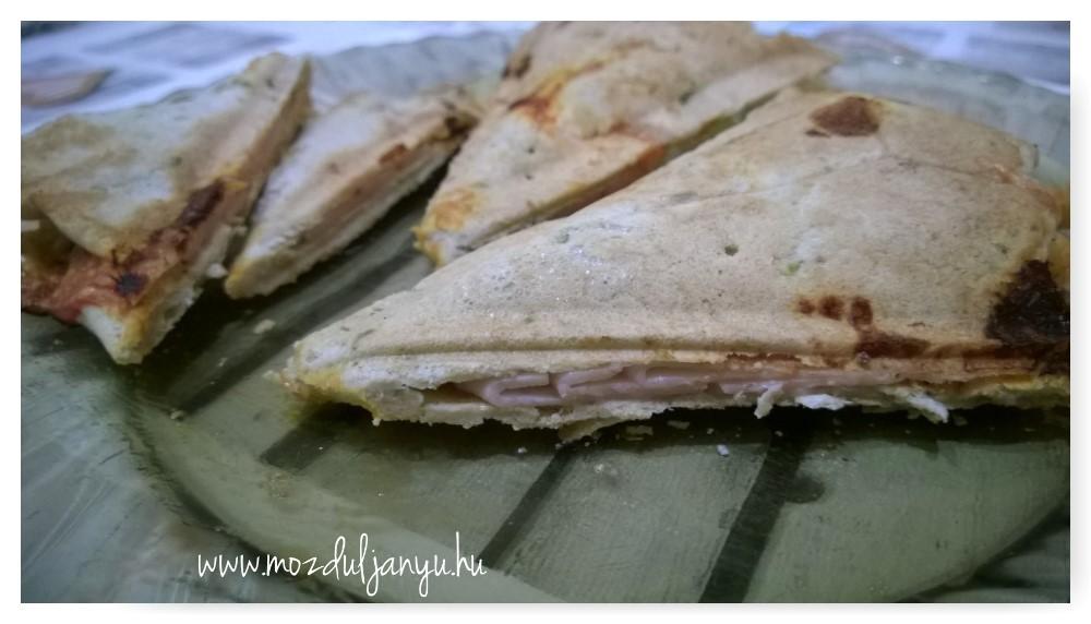 Light háromszög szendvicsek