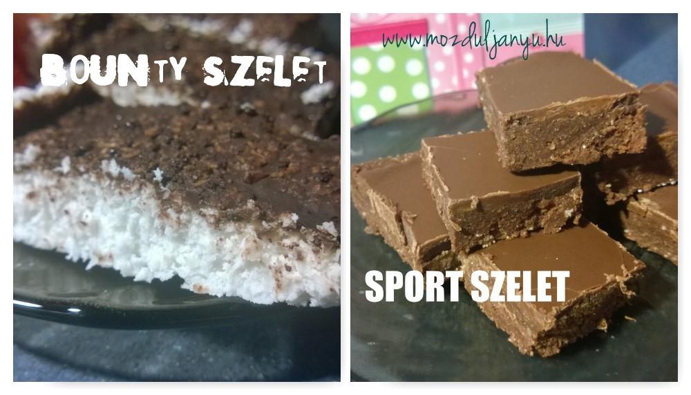 Diétás Bounty és Sportszelet