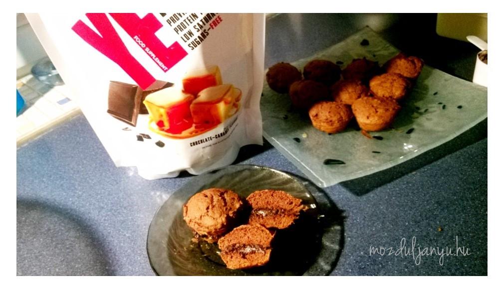 Proteines ch mentes kakaós muffin