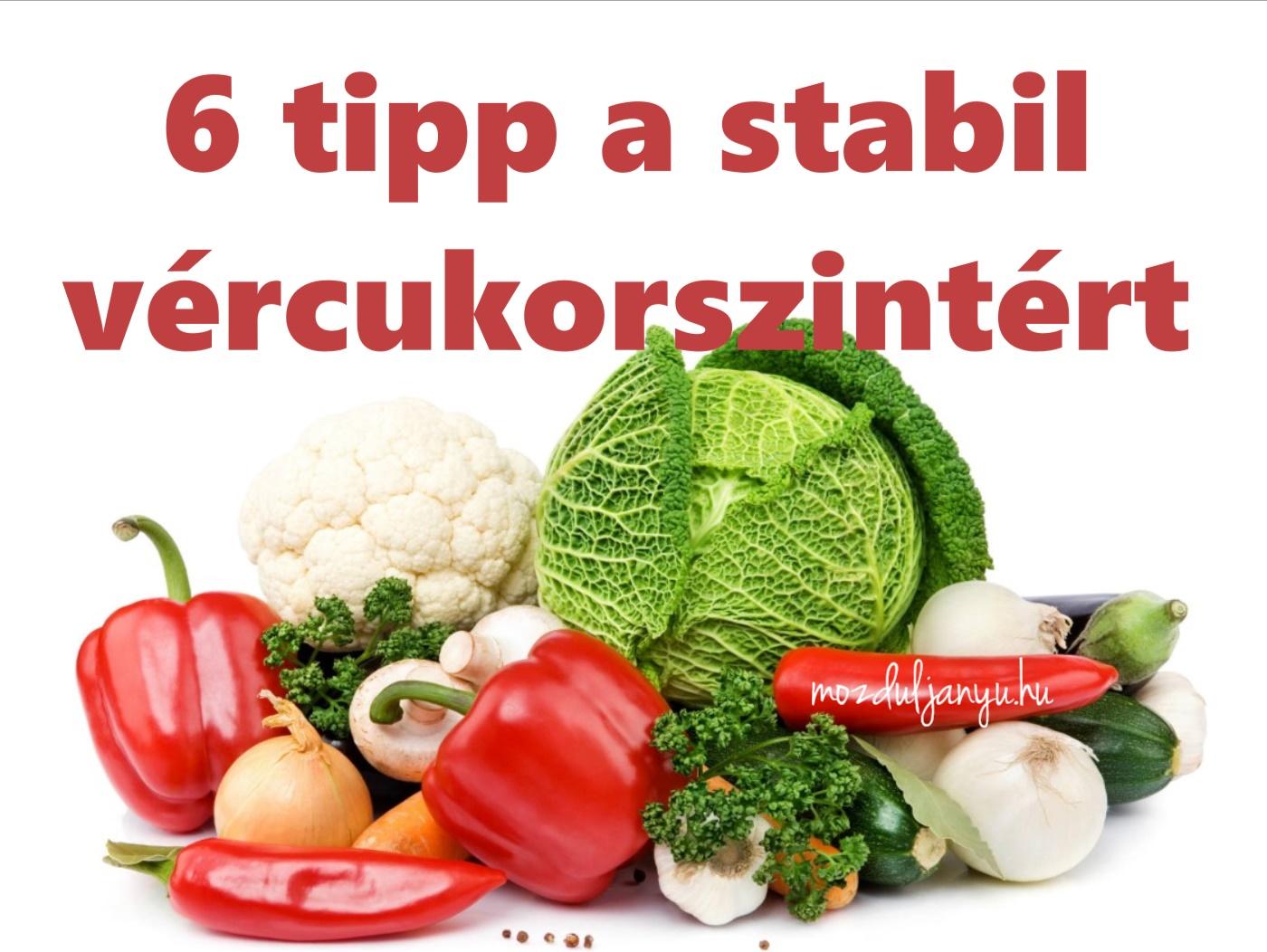 6 tipp a stabil vércukorszintért