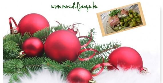 baconos csirke karácsony