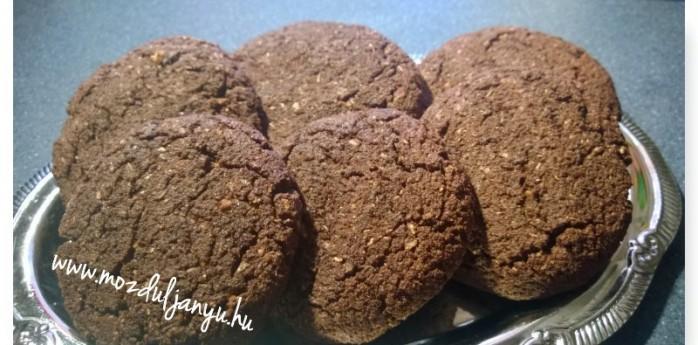 kókuszos csokis keksz